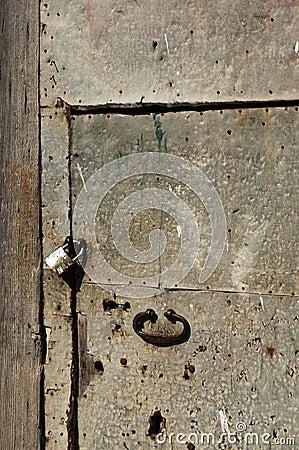 Old iron door and lock