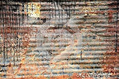 Old iron drum background