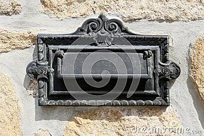 Old iron mailbox