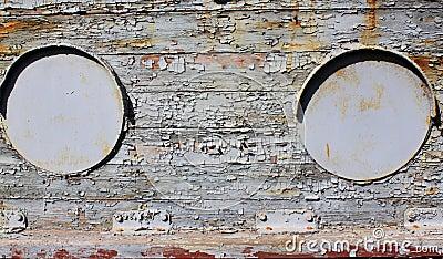 Old iron portholes