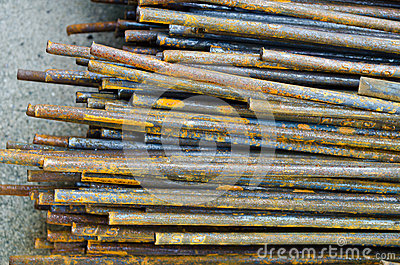 Old iron stick with rust