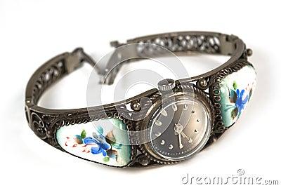 Old iron wrist watch