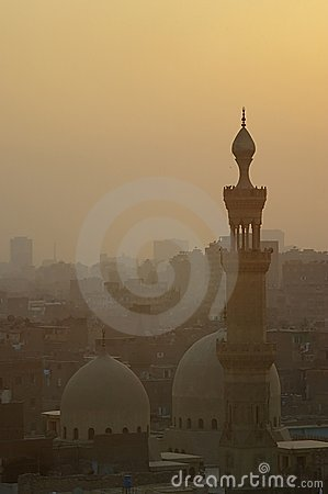 Old Islamic Cairo quarter Egypt