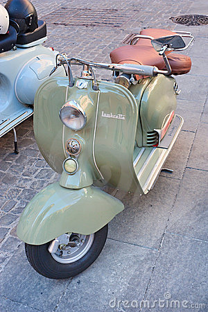 Old italian scooter Editorial Stock Image