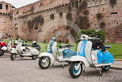 Old italian scooters Editorial Stock Image