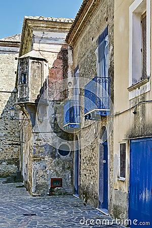 Old italian village buildings