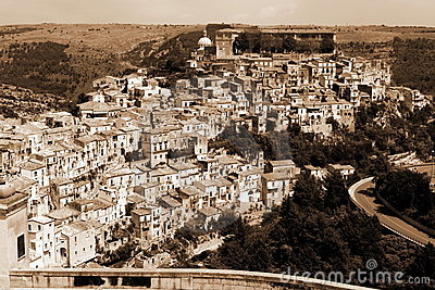 Old Italy, Ragusa city, Sicily