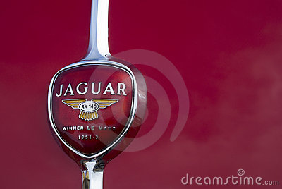 Old Jaguar car logo Editorial Photo