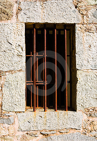 Old jail window Editorial Image