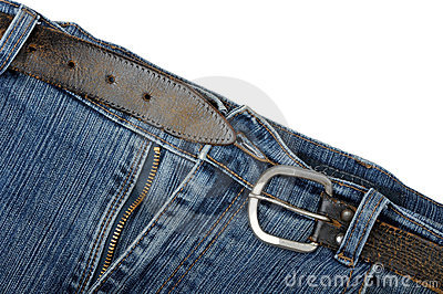 Old jeans and a belt