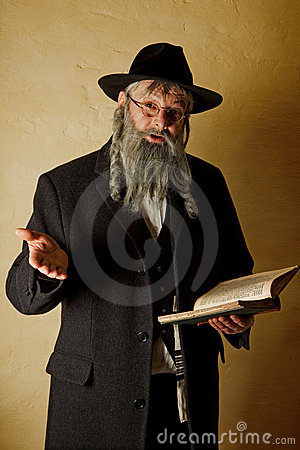 Old jew with book