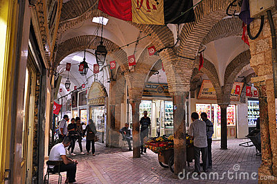 The old jewelry  souk in medina Tunis Editorial Stock Photo