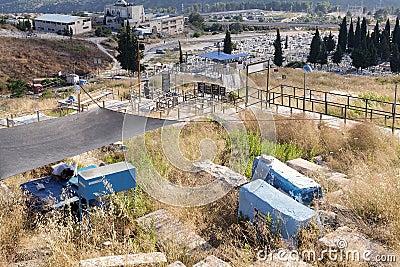 Old Jewish cemetery Editorial Stock Photo