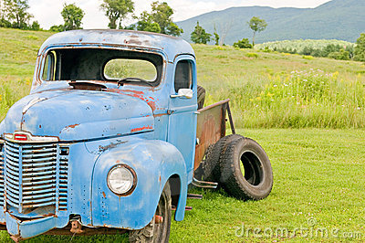 Old junk farm truck