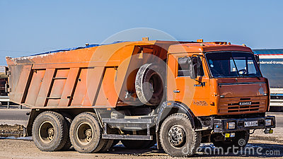 Old Kamaz truck Editorial Stock Photo