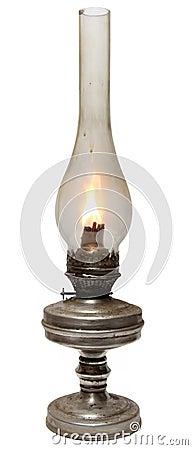 Free Old Kerosene Lamp Isolated On White Background . Royalty Free Stock Photos - 33772808