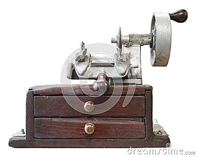 Old key duplicating machine