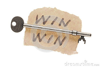 Old key and Win-win words