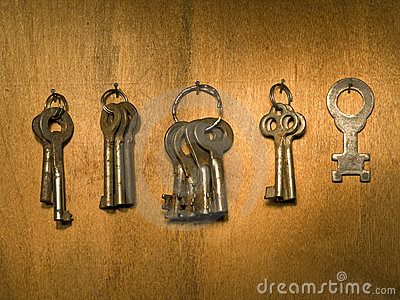 Old keys bunch.