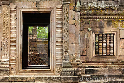 Old khmer temple