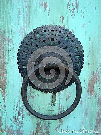Old knocker on the door