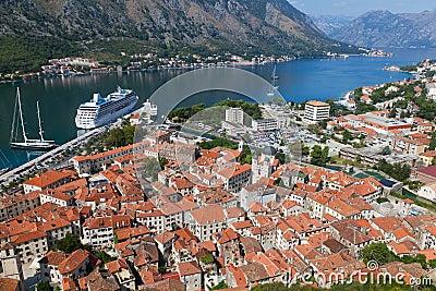 Old Kotor town in bay, Montenegro