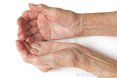 Old Ladies hands open
