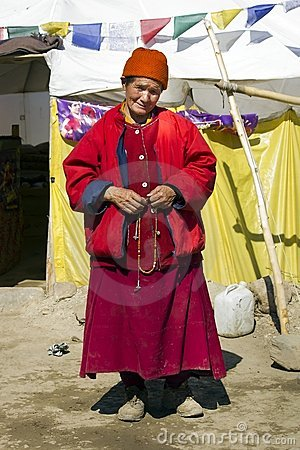 Old lady of Ladakh, Jammu & kashmir India Editorial Photography