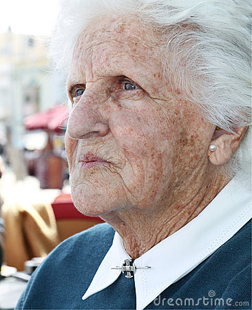 Free Old Lady Portrait Royalty Free Stock Photos - 13986038