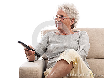 Old lady remote control