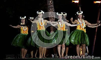 Old Lahaina  Luau - Hawaii dancer Editorial Stock Photo
