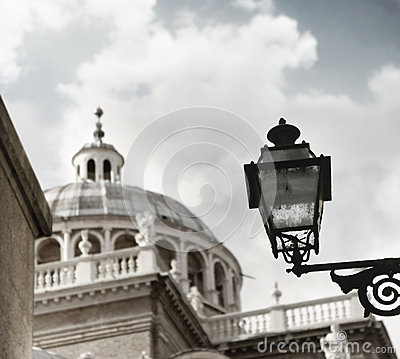 Old lamp and dome