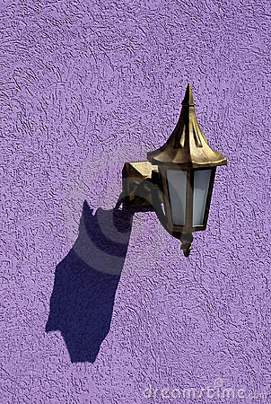 Old lamp with shadow