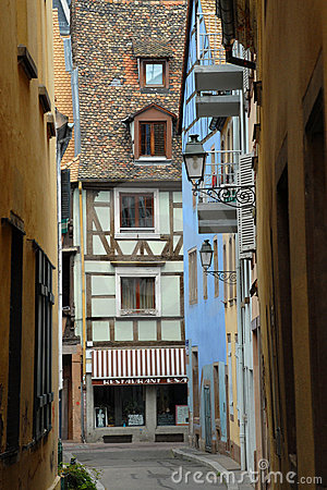 Old lane in Strasbourg, France