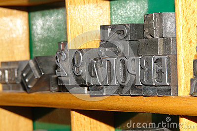 Old lead Typography letters