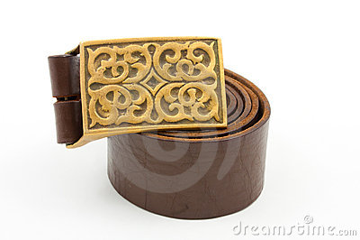 Old leather belt