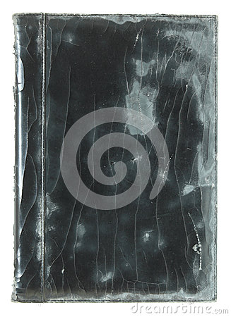 Old leather book cover isolated