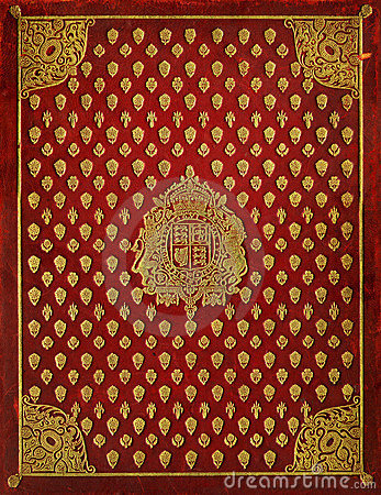 Old Leather Book Cover With Royal Symbols