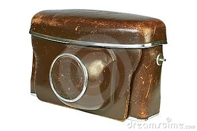 Old leather camera case.
