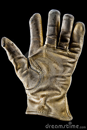 Old leather glove