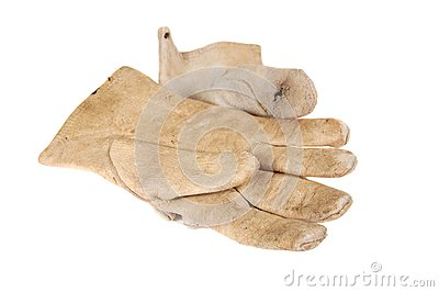 Old leather gloves