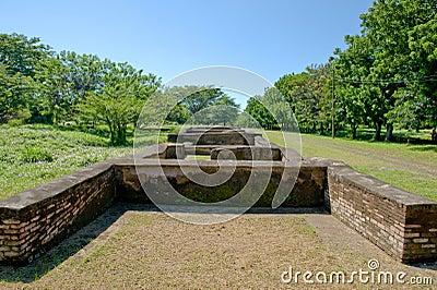 Old Leon city ruins Nicaragua