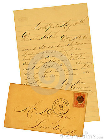 Old Letter and Envelope of 1865.