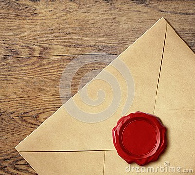 Free Old Letter Envelope With Wax Seal  Royalty Free Stock Photos - 45864398