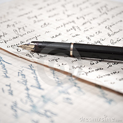 Old letter and fountain pen.