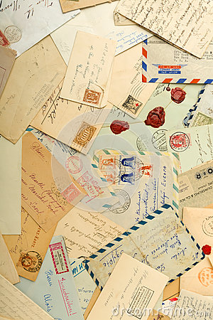 Free Old Letters And Envelopes Royalty Free Stock Photography - 56160197