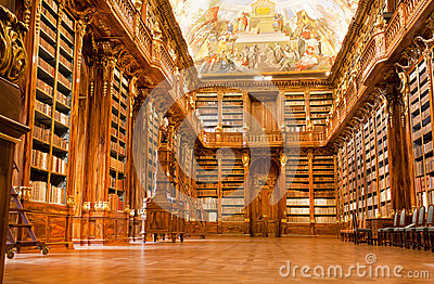 Old library in the Strahov monastery Editorial Image