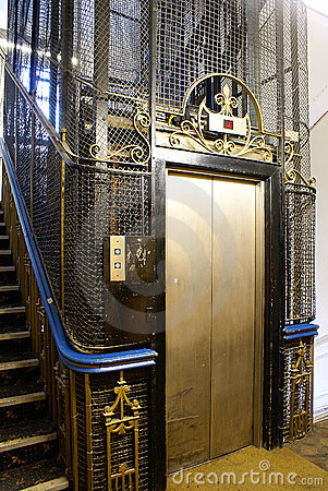 Old Lift In Uk Stock Photo Image 14230010
