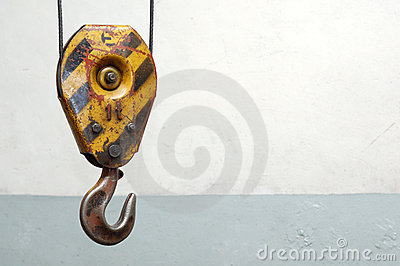 Old lifting hook