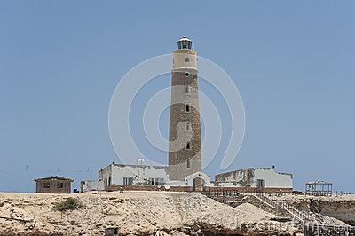 Old lighthouse on an island
